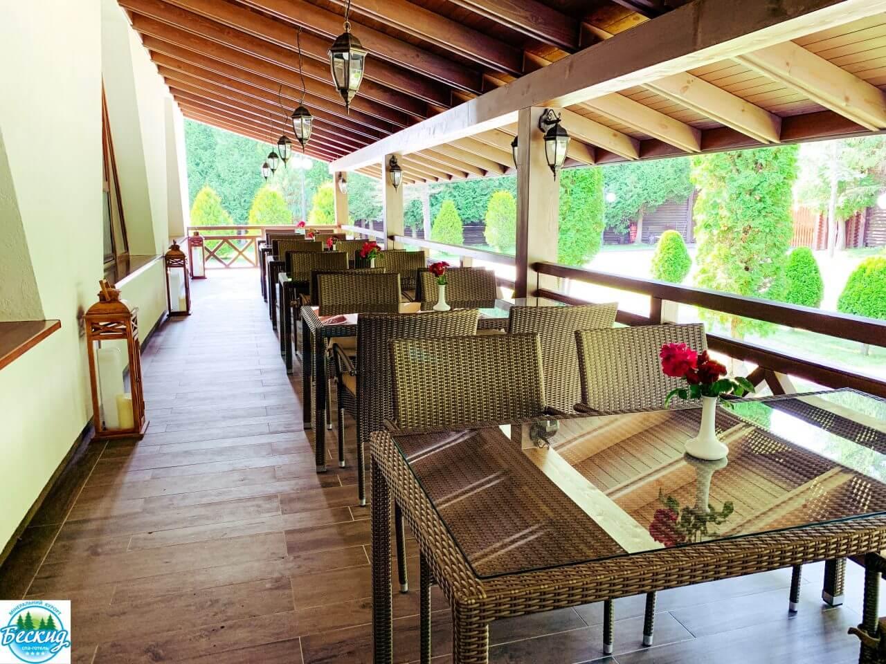 Терраса ресторана Бескид