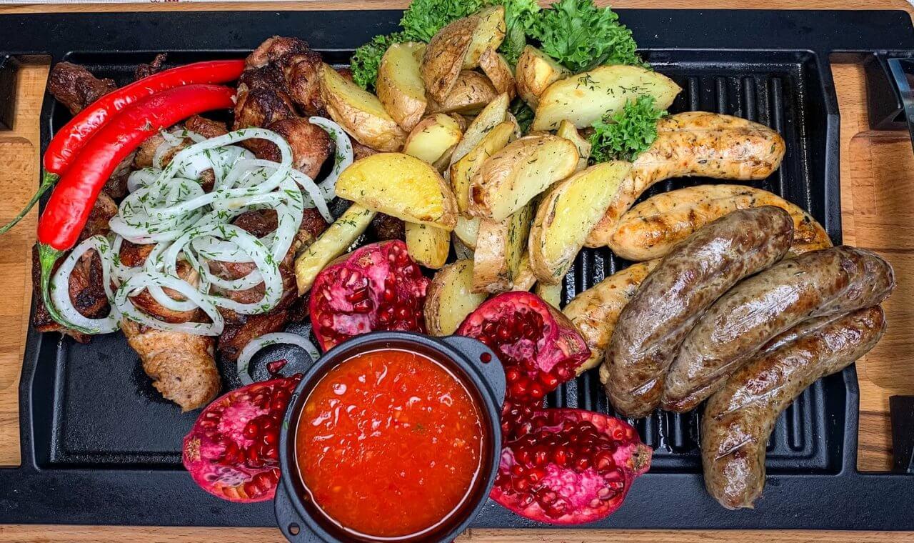 barbecueof the restaurant Kolyba